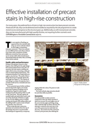 Concrete Magazine (May 2017) Effective installation of precast stairs in high rise construction 1st May 2017