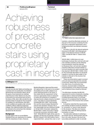 """Structural Engineer (Jan 2014) Achieving robustness of precast concrete stairs using proprietary cast-in inserts 1st January 2014"" is locked Structural Engineer (Jan 2014) Achieving robustness of precast concrete stairs using proprietary cast-in inserts 1st January 2014"
