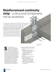 """Concrete Magazine (March 2016) Reinforcement continuity strip – a structural component not an accessory 1st March 2016"" is locked Concrete Magazine (March 2016) Reinforcement continuity strip – a structural component not an accessory 1st March 2016"