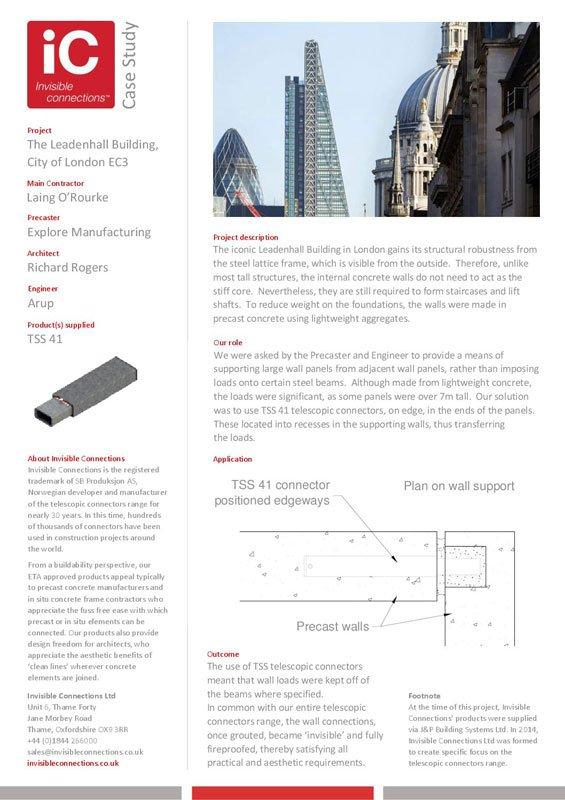 The Leadenhall Building, City of London EC3