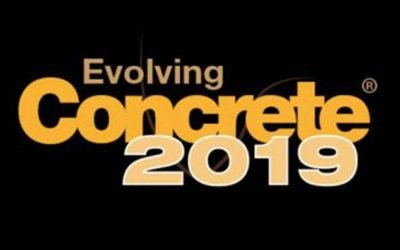 We will be exhibiting at Evolving Concrete 2019