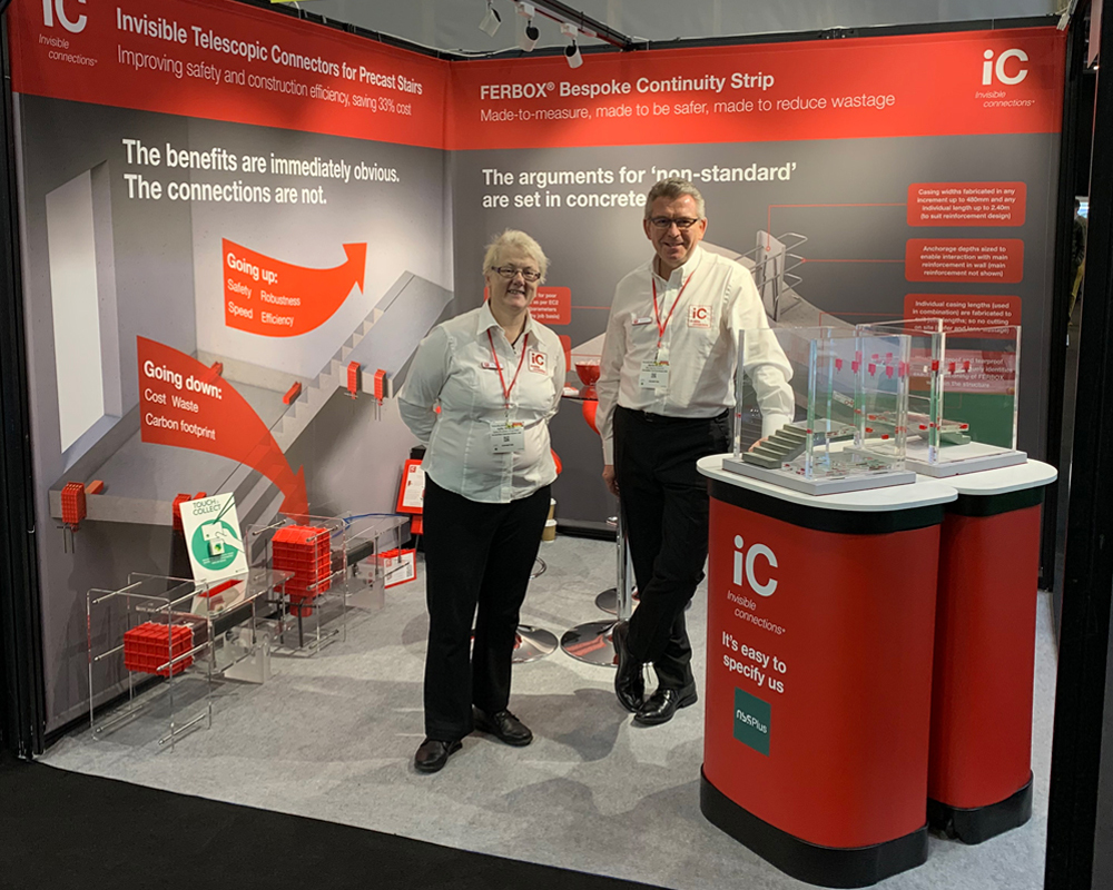 Invisible Connections' stand E73 at Futurebuild2020