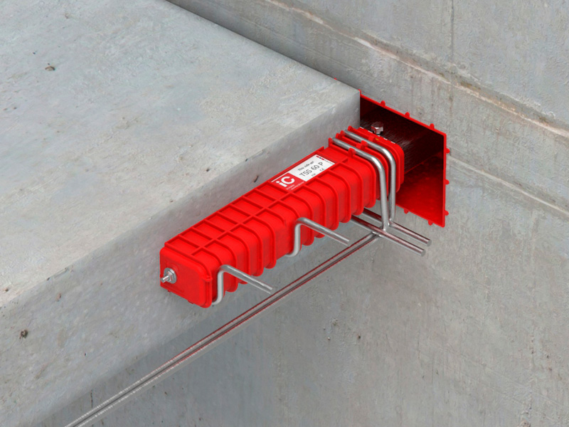 TSS 60P supporting stair landing off core wall