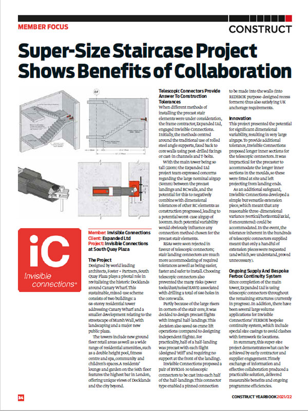 Construct Yearbook 2021/22 (November 2021) Super-Size Staircase Project Shows Benefits of Collaboration